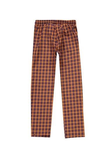 Kiğılı Ekose Pijama Altı Oranj